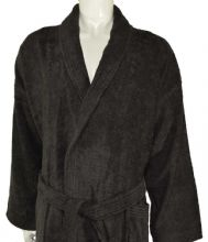 linenHall 400gsm Shalw Collar Bathrobe In Dark Chocolate